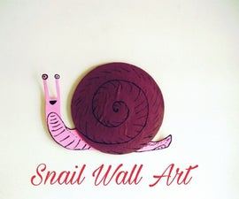 Old CD Snail Wall Art