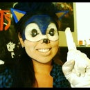 Sonic Halloween makeup