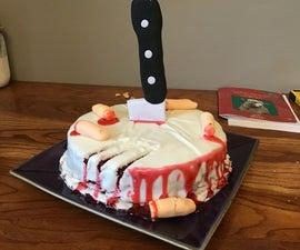 Easy Bloody Knife Cake