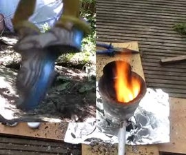 casting aluminium slingshots!