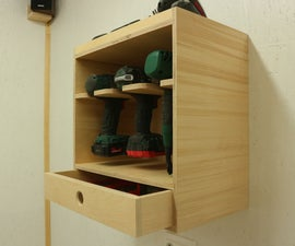 Making a Cordless Drill Holder / Charging Station