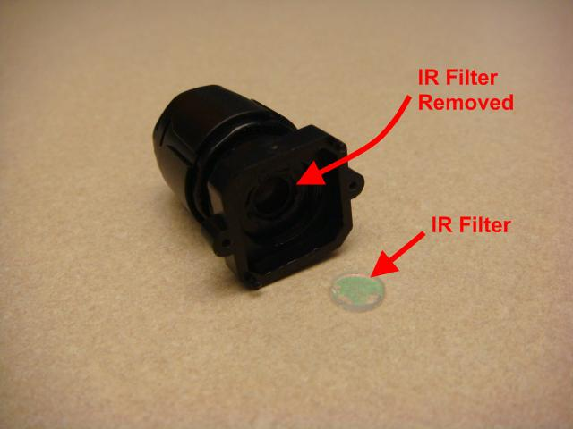 Picture of Removing the PS Eye Infrared Filter: