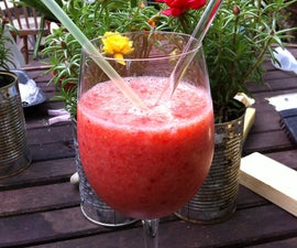 Strawberry and Banana Slush Smoothie