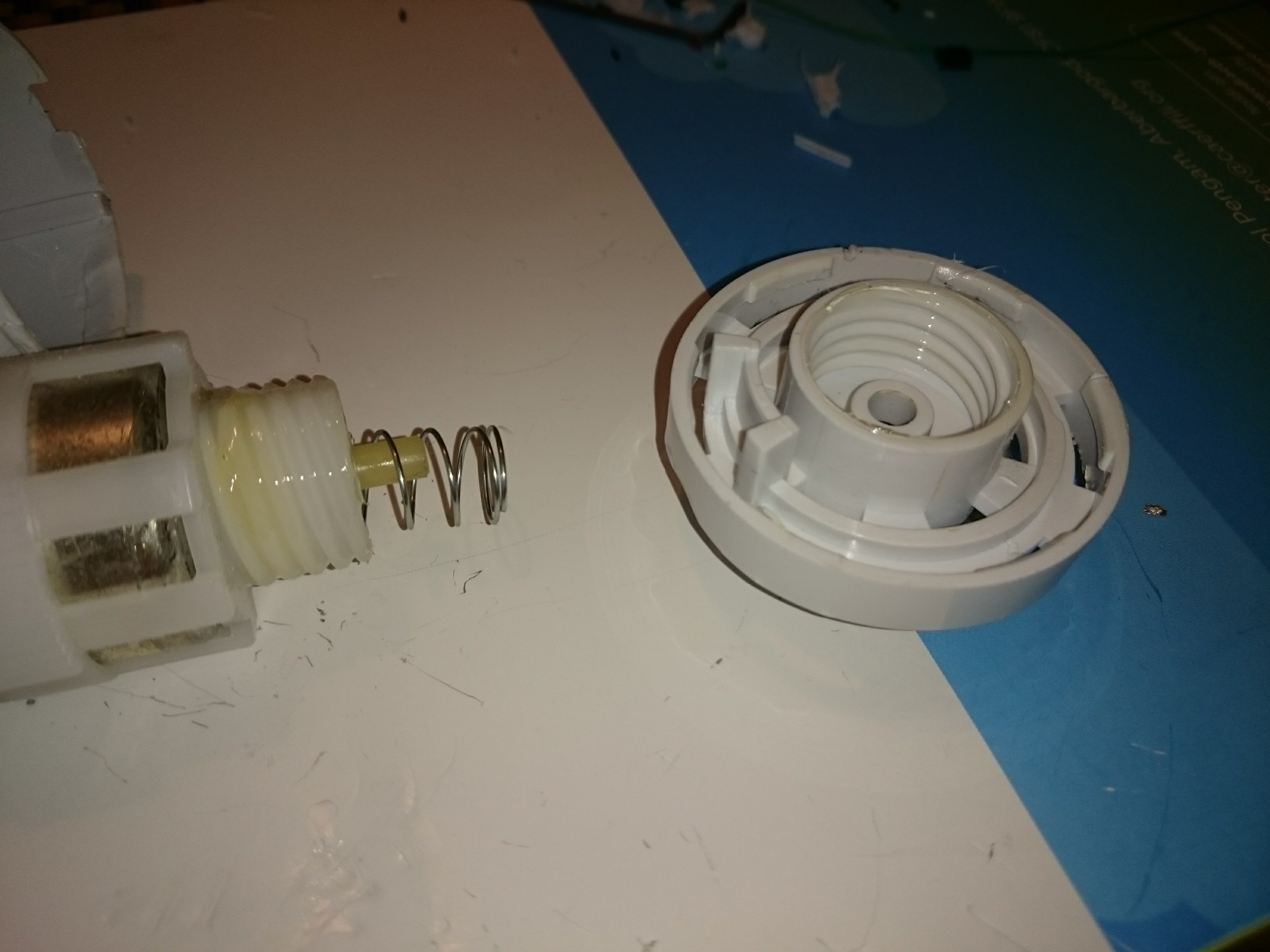 Picture of Housing the Stepper Motor