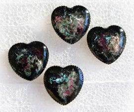 Faux Black Opal Cast Resin Earrings