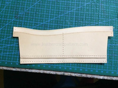 Sew First Card Slot on Card Slot Back Leather, Only Sew the Bottom Stitching Line.