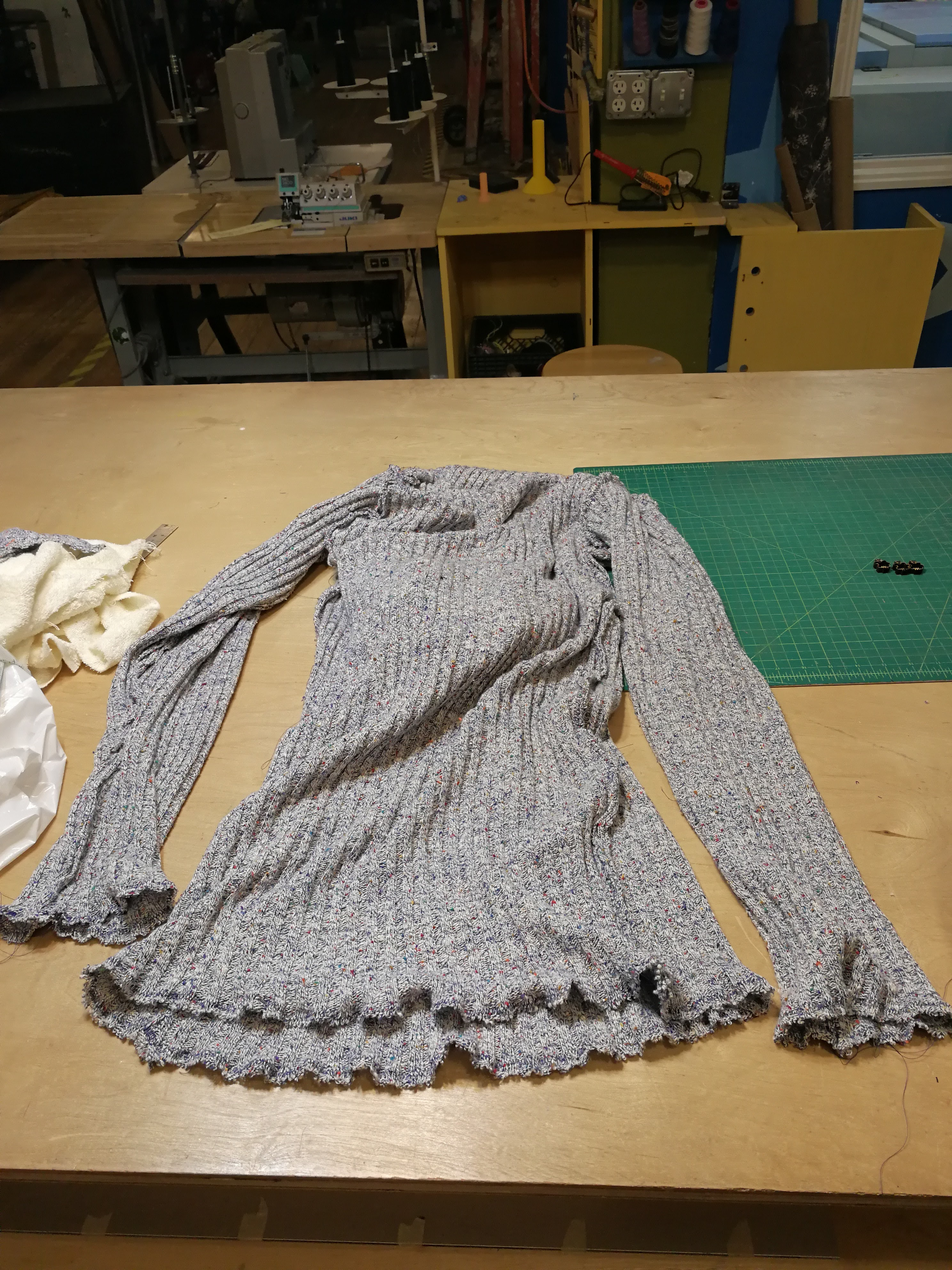 Picture of Sew Sleeves and Bottom Edges