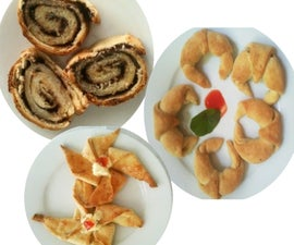Danish roll, Sweet Croissants Savory Croissants