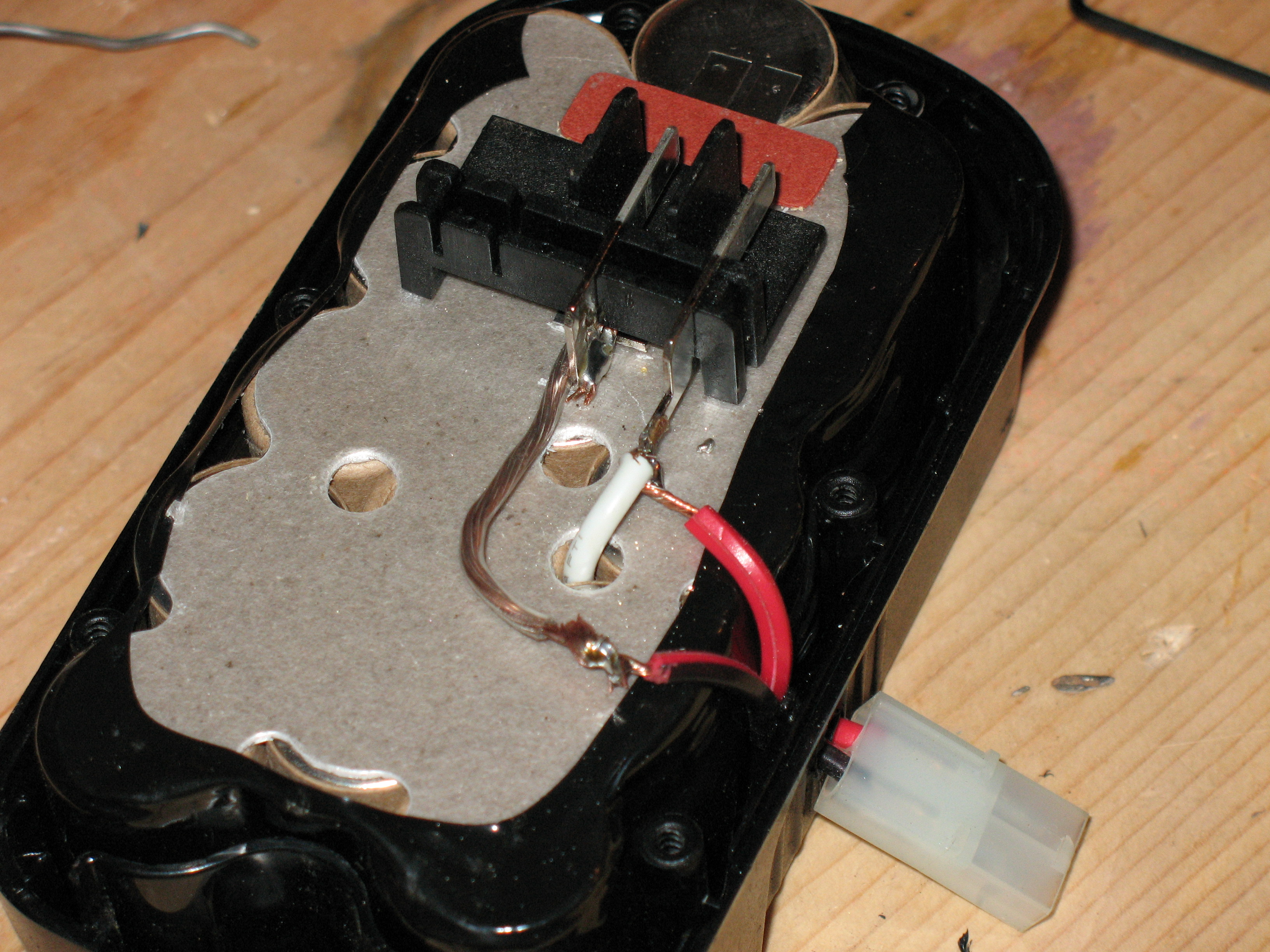 Picture of Find Your Anode and Cathode (+ and -) and Wire the Quick Disconnect to It