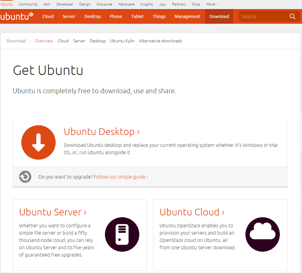 Picture of Getting Ubuntu ISO From the Official Ubuntu Website [optional]