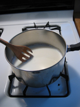 Picture of Bring Milk Just to a Boil.