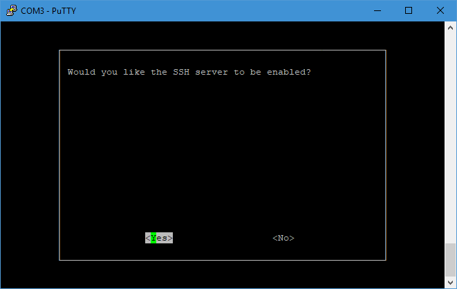 Picture of Enabling SSH