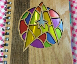Star Trek Stained Glass Notebook