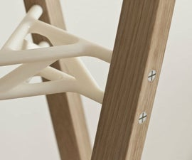Cross Tenon Coat Rack