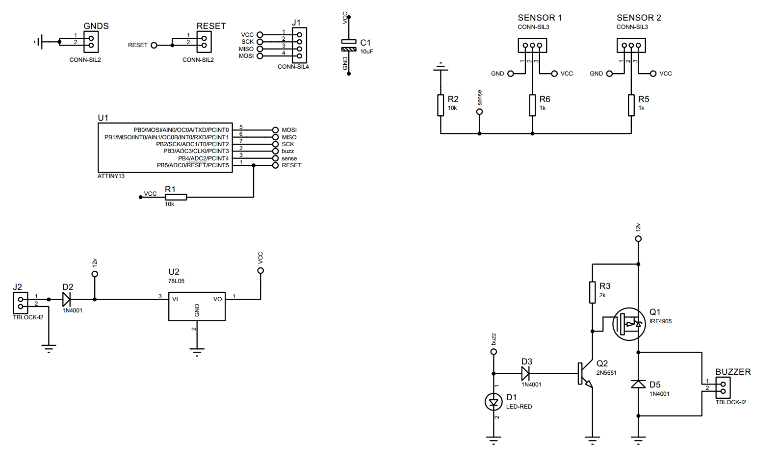 Picture of Schematic and Code