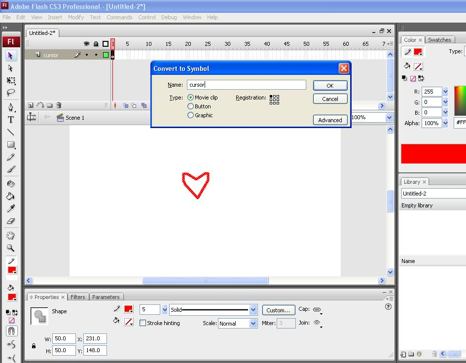 Picture of Making the Cursor