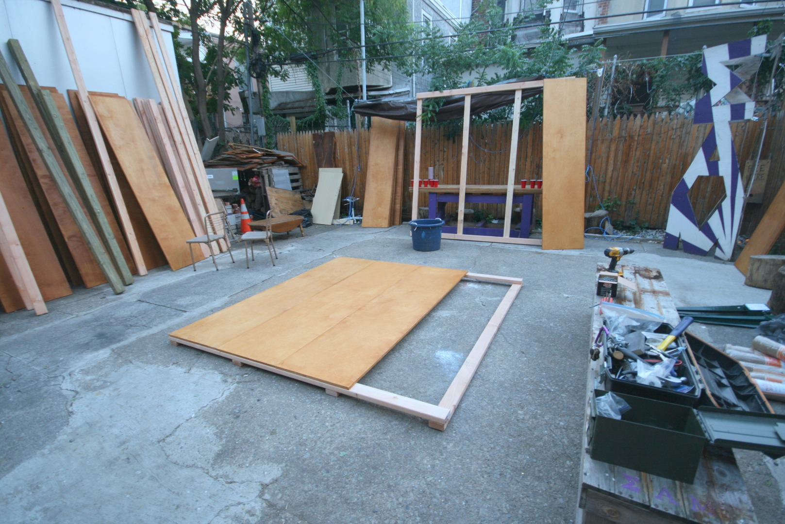 Picture of Staining and Building the Sides