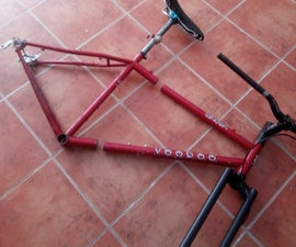 Split Bicycle Frame for Travelling