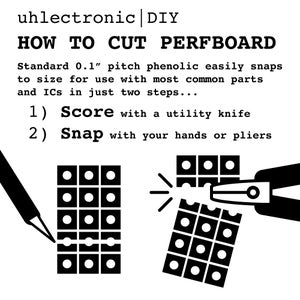 How to Cut PERFBOARD