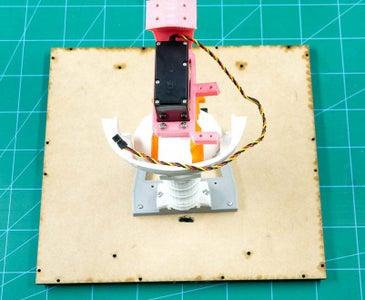 Fixing of the Neck Servo (HS-805BB Servo)