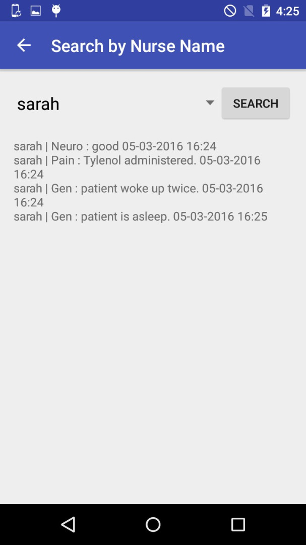 Picture of Review Patient Information - Search by Nurse Name