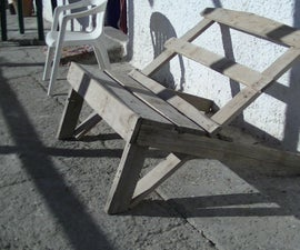 Salvaged wood, Garden Lazy lounger
