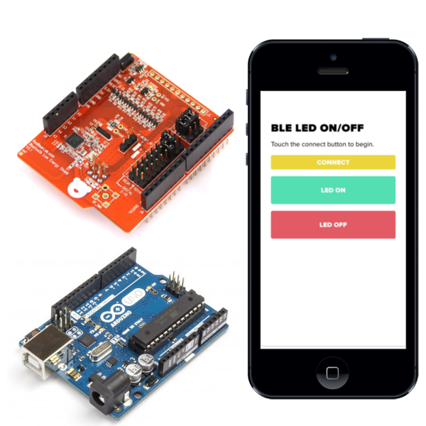 Picture of How to Connect Your Arduino BLE Shield to a Custom IOS/Android Application Developed in HTML5 and JavaScript.
