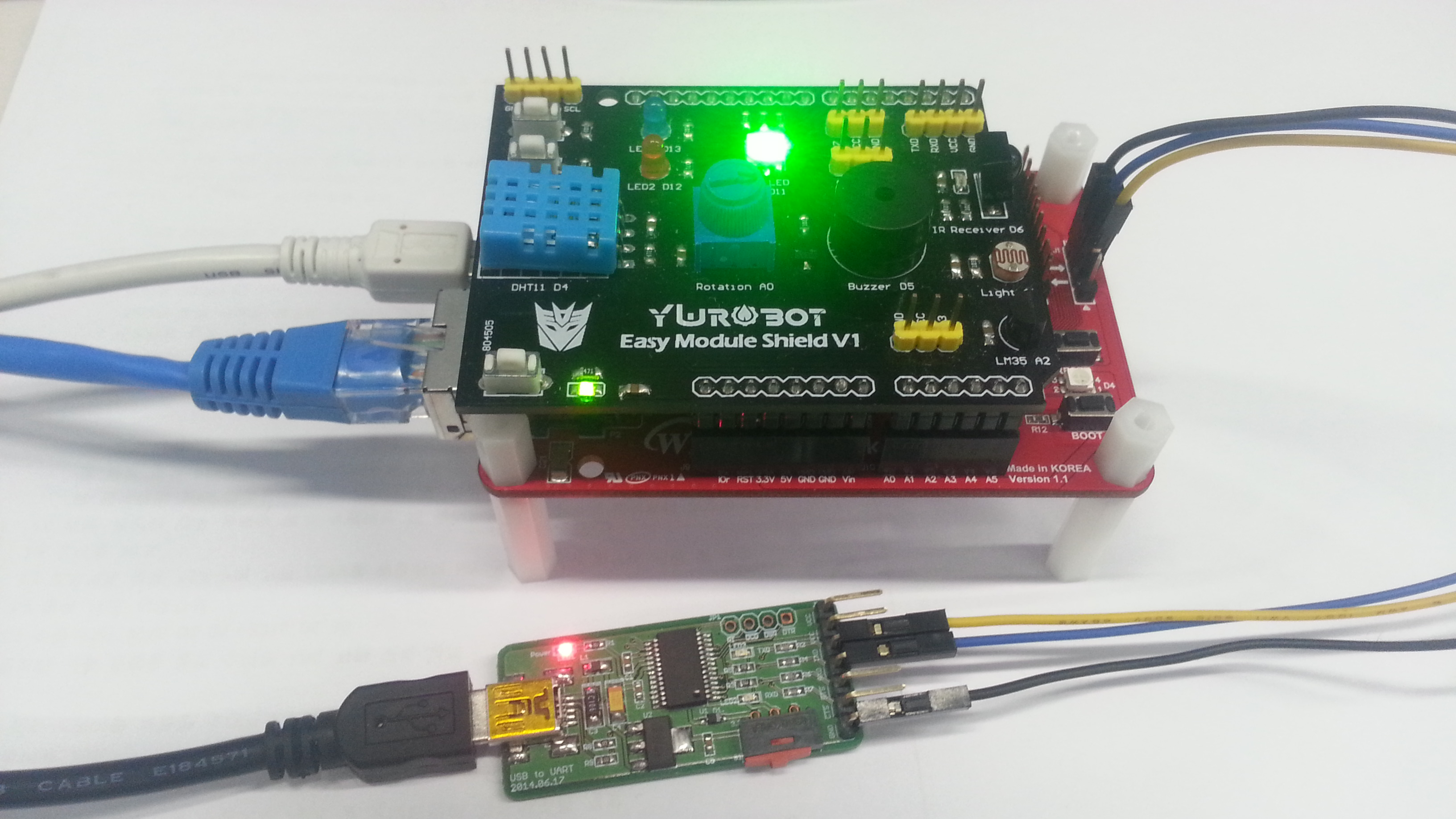 Picture of IoT Base Platform With GCC, WIZwiki-W7500 : MQTT