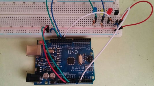 Lets Hook Up LM35 and Its Leds