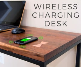 Wireless Charging Desk With Metal Inlay