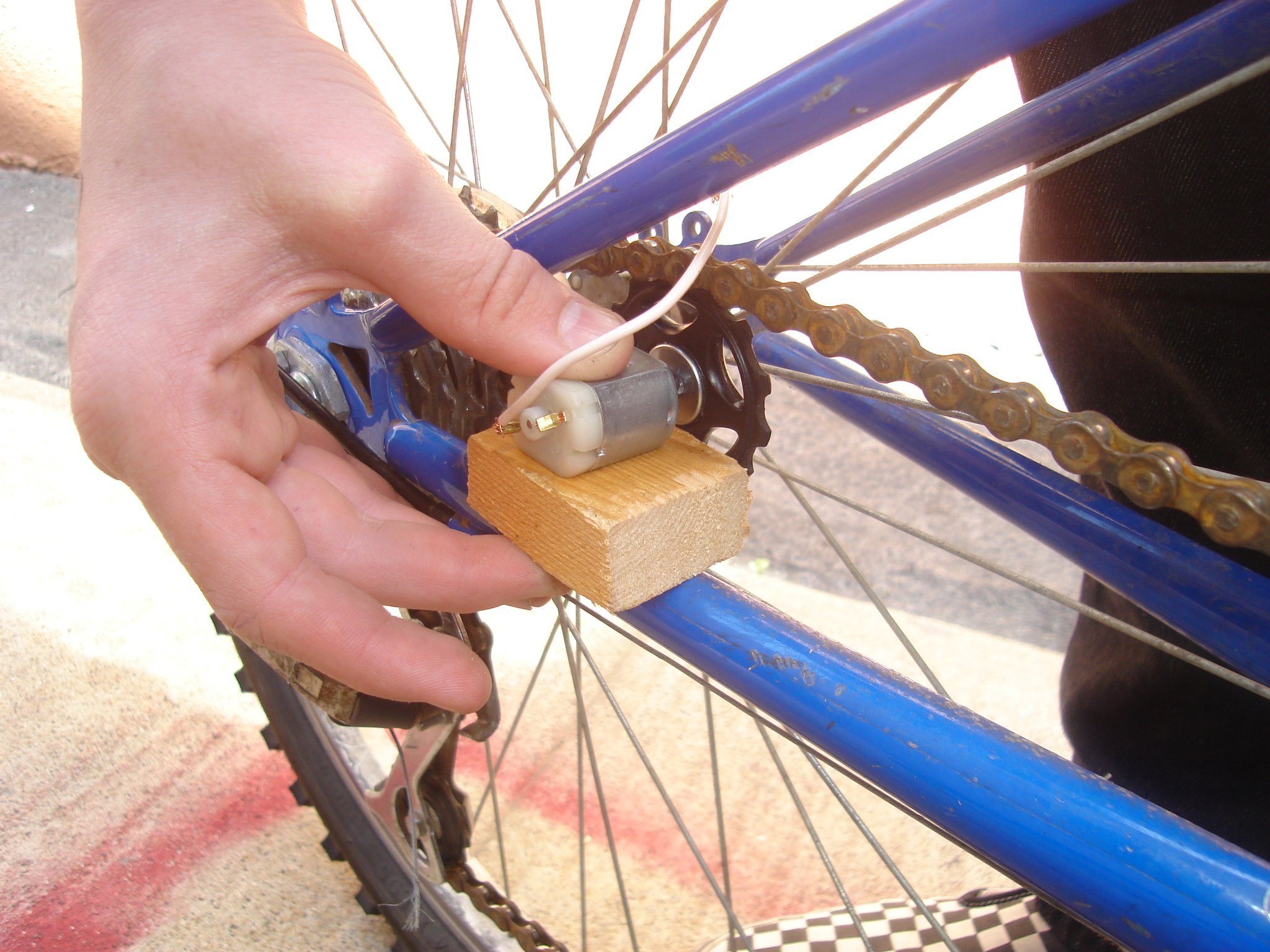 Picture of Mounting the Gear and Motor Onto the Bike