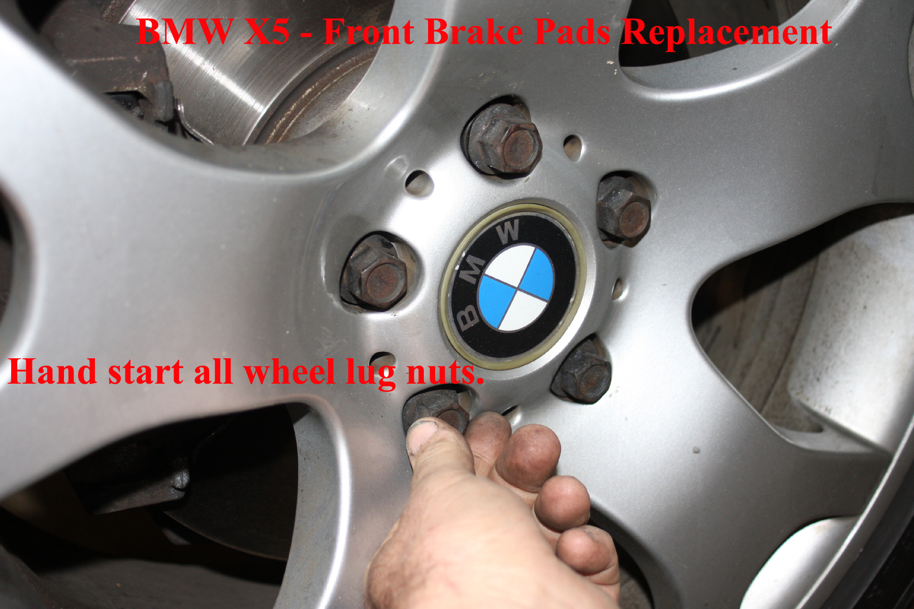 Picture of Removing the Lug Nut Covers