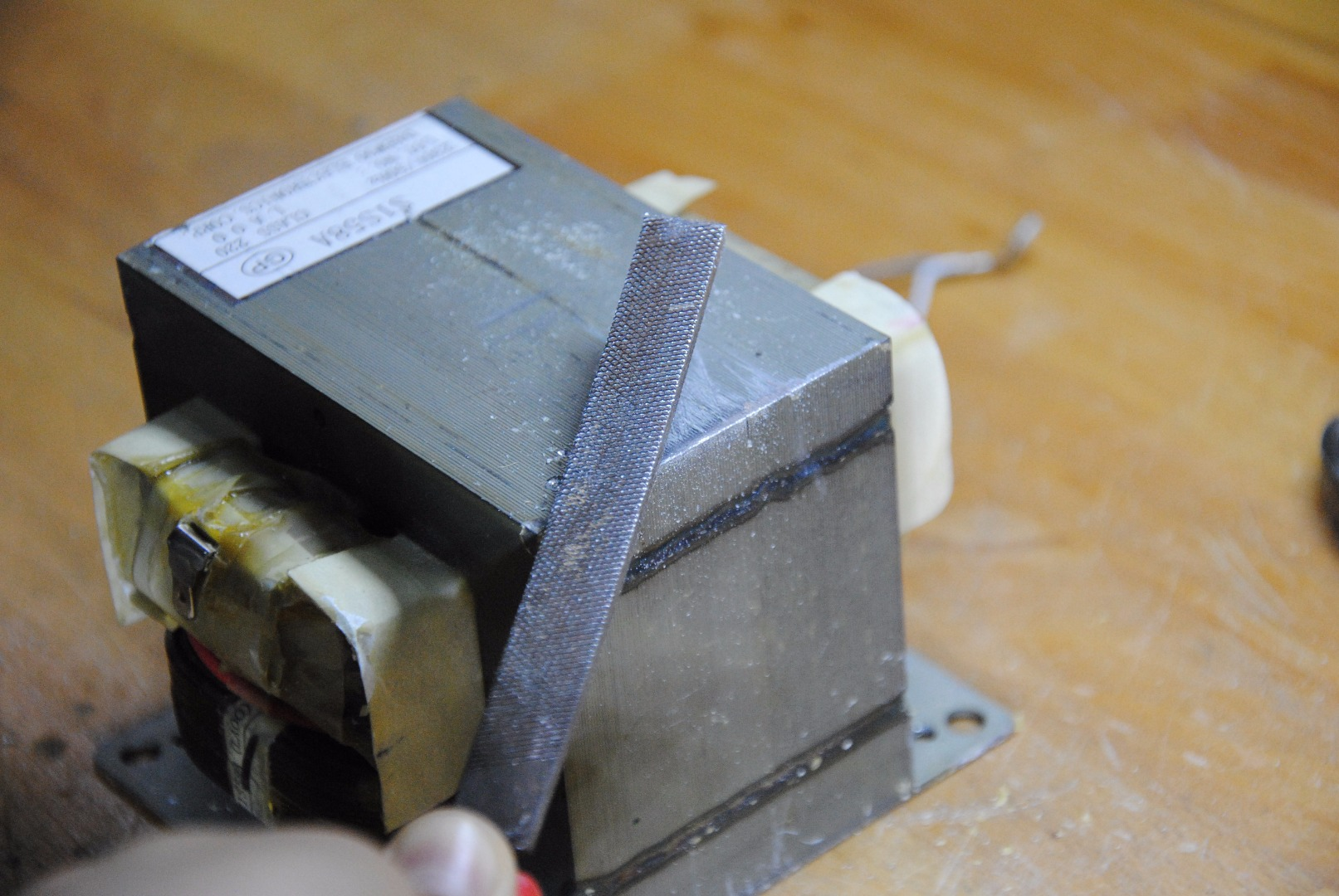 Picture of Roughen the Surface of the Vise & Transformer