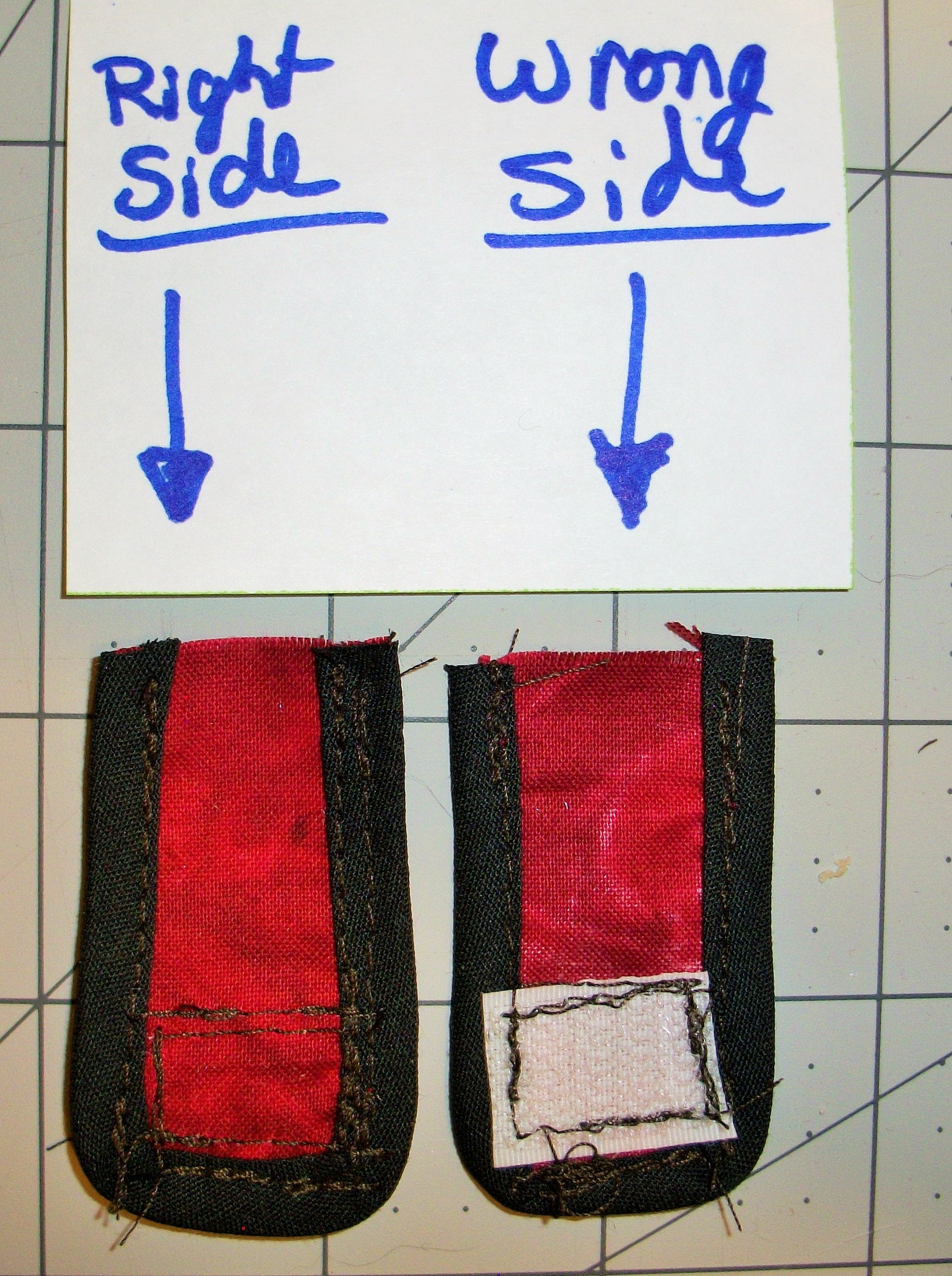 Picture of Attach Hook and Loop (Velcro) Pieces