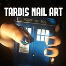 TARDIS In Space nail art