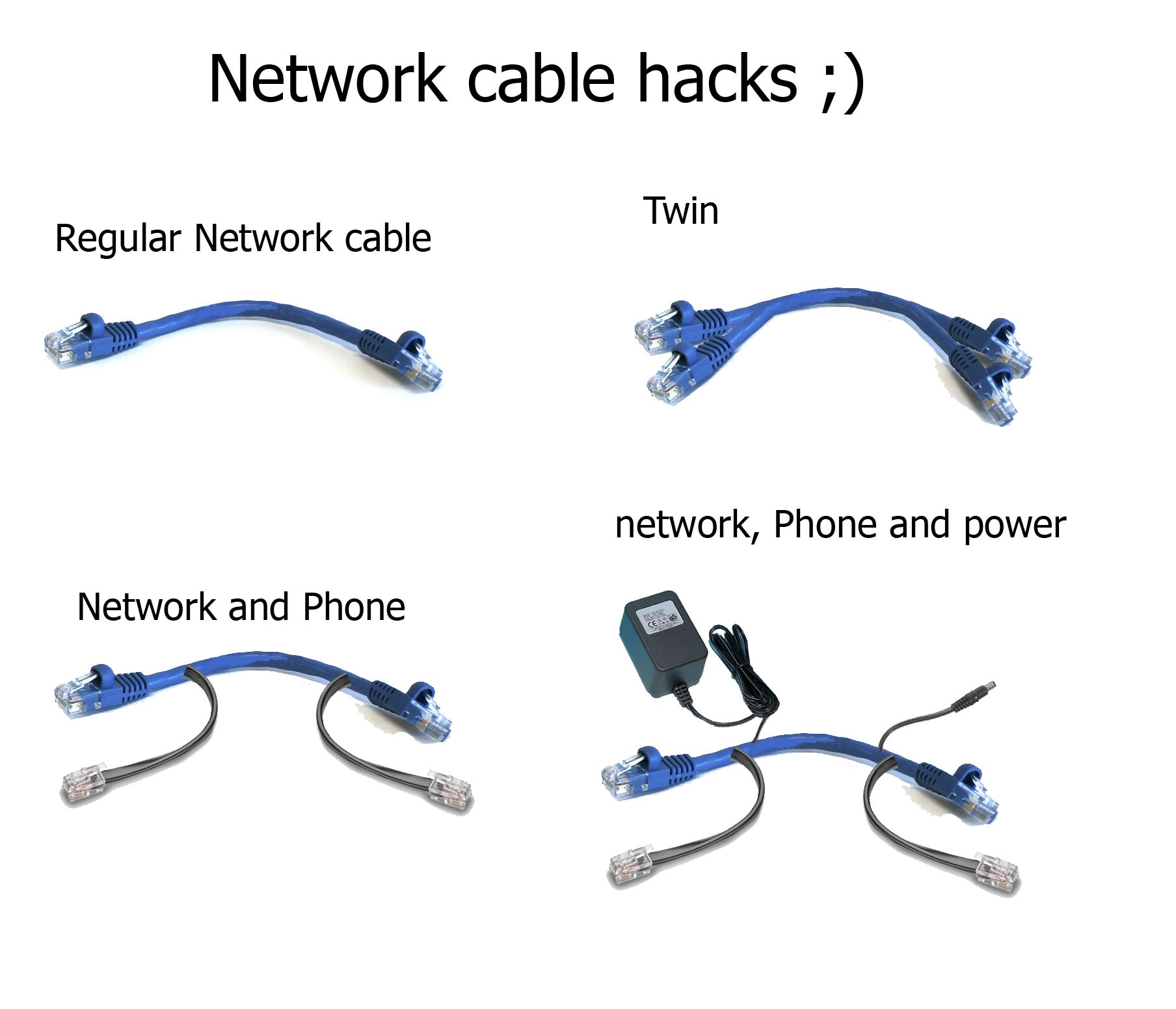 Network Cable Hack 5 Steps Rj25 Wiring Diagram For Connector