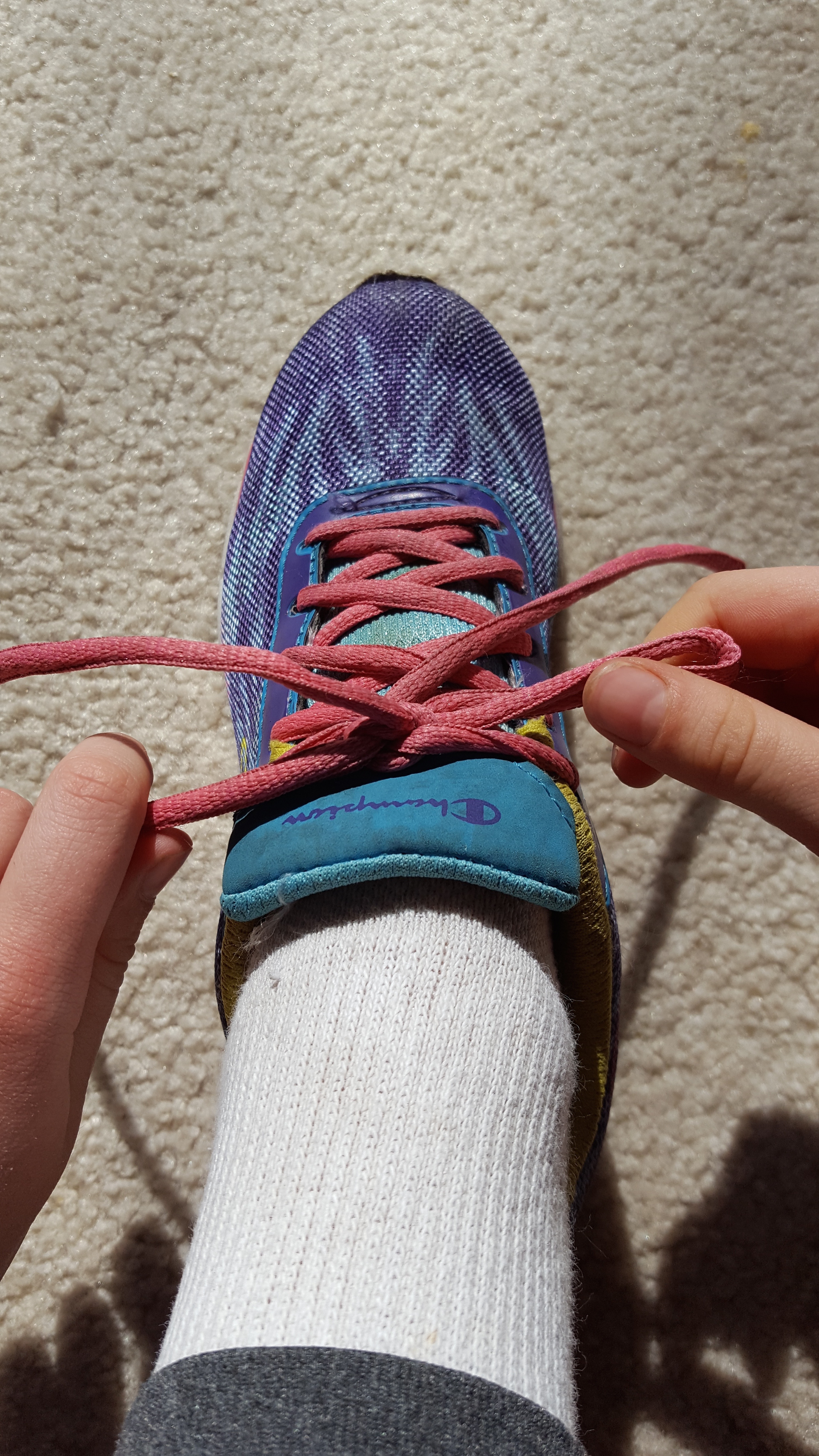 Picture of Pull Out on Both Loops to Tighten. You Are Finished! (Continue to the Next Step Only If You Want to Double Knot Your Shoe.)