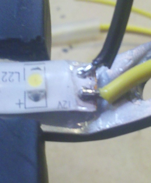 Picture of Making the LED Light Bar - Electrical Connections