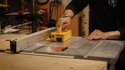 Cutting the Plexiglass on a Table Saw and Do a Test Fit on the Frame
