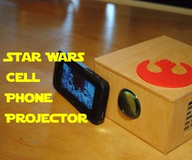 Wooden Cell Phone Projector!