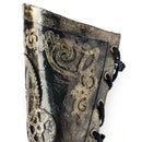 Burned Glue Faux Leather Steampunk Arm Cuff