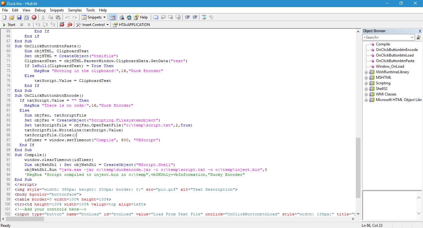 Picture of USB Rubber Ducky Script Encoder (VBScript)