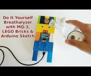 Do It Yourself Breathalyzer With MQ-3 & LEGO Parts