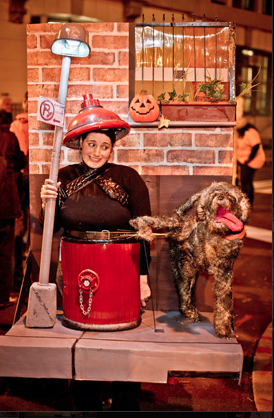 Picture of Fire Hydrant (being Peed on by a Dog) Costume