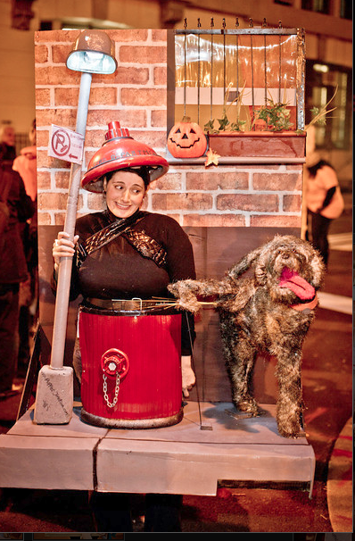 Fire Hydrant (being Peed on by a Dog) Costume