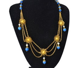 New Idea for Jewelry Making- How to Make a Beaded Flower Link Chain Necklace