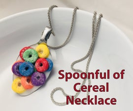 Spoonful of Cereal Necklace