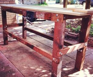Reclaimed Hardwood Workbench