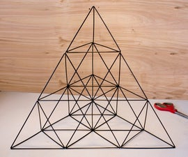 Giant Straw Tetrahedron Cluster