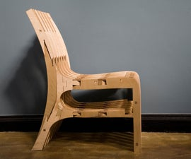 CNC Scissor Chair (Plywood)
